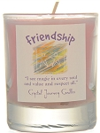 Friendship Soy Filled Glass Votive Candle