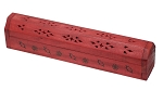Coffin Box w/Storage - Red, Each