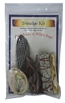 Smudge Kit - Palo Santo / White Sage, Each