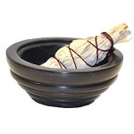 Soapstone Smudge Pot Charcoal Burner, Each