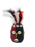 Fancy Elegua Head With Feathers