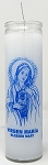 Virgin Mary 7 Day Candle, White