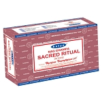 SACRED RITUAL Incense Sticks 15 Gram, Satya  (12 Boxes of 15 Sticks = 180 Sticks)