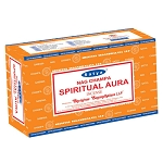 SPIRITUAL AURA Incense Sticks 15 Gram, Satya  (12 Boxes of 15 Sticks = 180 Sticks)