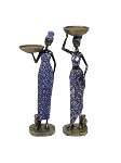 AFRICAN WOMEN STATUES STYLE 6 (SET OF 2)
