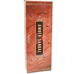 Amber Sandal Incense Sticks, Hex Pack - 6 Boxes of 20 Sticks (120 Sticks)