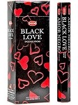 Black Love Incense Sticks, Hex Pack - 6 Boxes of 20 Sticks (120 Sticks)
