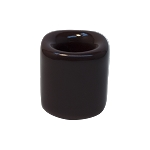 Chime Candle Holder - Brown Porcelain, Each