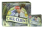 Call Client Incense Cones, HEM, Box/12