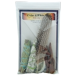 Smudge Kit - Cedar / White Sage, Each