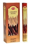 Cinnamon Incense Sticks, Hex Pack - 6 Boxes of 20 Sticks (120 Sticks)