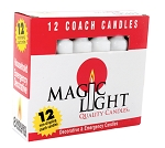 Household Coach Candles - White, Box/12