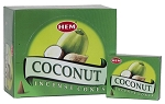 Coconut Incense Cones, HEM, Box/12