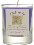 Creativity Soy Filled Glass Votive Candle