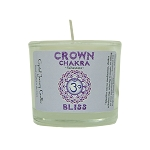 Crown Chakra Glass Votive, Each