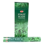 First Rain Incense Sticks, Hex Pack - 6 Boxes of 20 Sticks (120 Sticks)