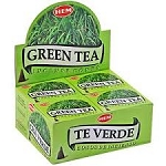 Green Tea Incense Cones, HEM, Box/12