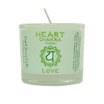 Heart Chakra Glass Votive, Each
