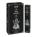 HEM Champa Black Masala Incense Sticks, 12 Boxes of 15 Sticks (180 Sticks)