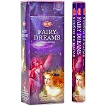 Fairy Dreams Incense Sticks, Hex Pack - 6 Boxes of 20 Sticks (120 Sticks)