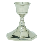 Household Candle Holder, Nickel, Each