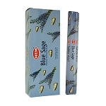 Blue Sage Incense Sticks, Hex Pack - 6 Boxes of 20 Sticks (120 Sticks)