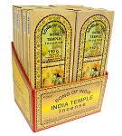 Song Of India - India Temple Incense Sticks 150g, Box/12