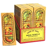 Song Of India - India Temple Incense Sticks 60g, Box/18
