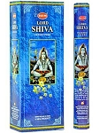 Lord Shiva Incense Sticks, Hex Pack - 6 Boxes of 20 Sticks (120 Sticks)