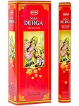 Ma Durga Incense Sticks, Hex Pack - 6 Boxes of 20 Sticks (120 Sticks)