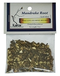 Mandrake Root, Cut & Sifted, Packaged, 0.5oz.