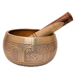 Gold Tibetan Singing Bowl, Machined, 5