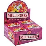 Milflores Incense Cones, HEM, Box/12