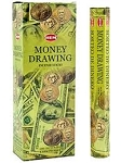 Money Drawing Incense Sticks, Hex Pack - 6 Boxes of 20 Sticks (120 Sticks)