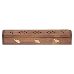 Coffin Box w/Storage - Natural Elephant, Each