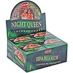 Night Queen Incense Cones, HEM, Box/12