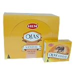 Ojas Sandal Incense Cones, HEM, Box/12