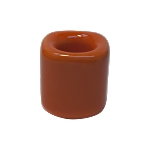 Chime Candle Holder - Orange Porcelain, Each