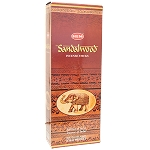 Sandalwood Incense Sticks, Hex Pack - 6 Boxes of 20 Sticks (120 Sticks)