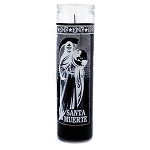 Santa Muerte (Holy Death) 7 Day Candle, Black