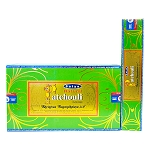 Natural Patchouli Incense Sticks 15 Gram, Satya, Box of 12