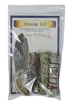 Smudge Kit - Black Sage / White Sage, Each