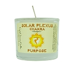 Solar Plexus Chakra Glass Votive, Each