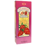 Strawberry Incense Sticks, Hex Pack - 6 Boxes of 20 Sticks (120 Sticks)