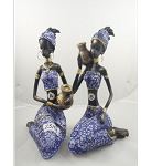 AFRICAN WOMEN STATUES STYLE 5 (SET OF 2)