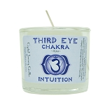 Third Eye Chakra Glass Votive, Each