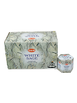 White Sage Backflow Incense Cones, HEM, Box/12