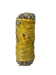 White Sage & Yellow Rose Petals Smudge Stick - 3-4