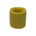 Chime Candle Holder - Yellow Porcelain, Each