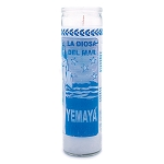 Yemaya 7 Day Candle, White